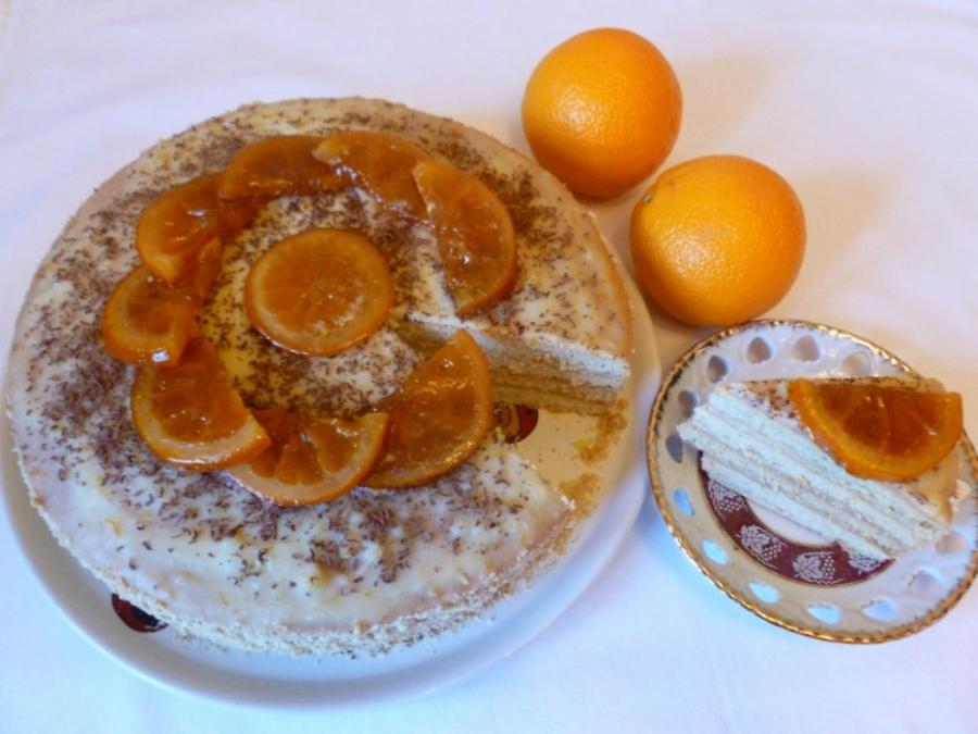"Торт ""Апельсин"" - фото шаг 8"