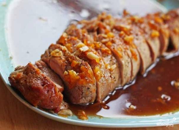 Мясо в медовом соусе рецепт с фото