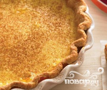 Рецепт Пирог с коричным заварным кремом