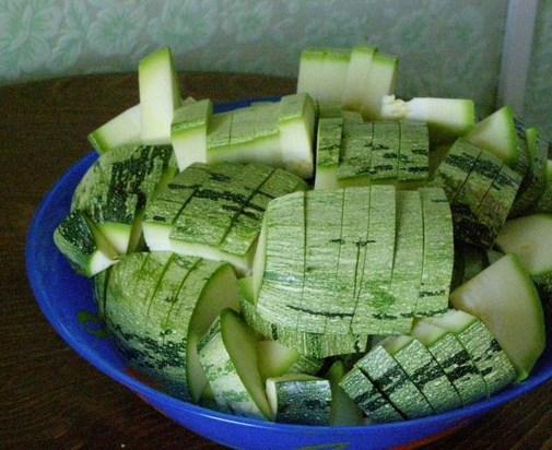 Рецепт Жареные кабачки с чесноком на зиму
