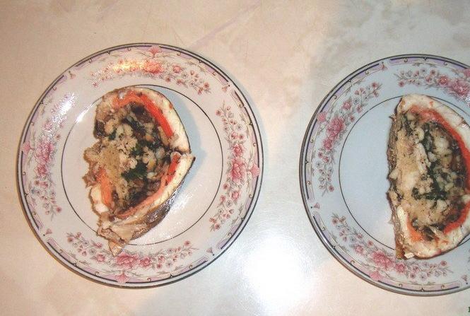 Судак, фаршированный грибами - фото шаг 4