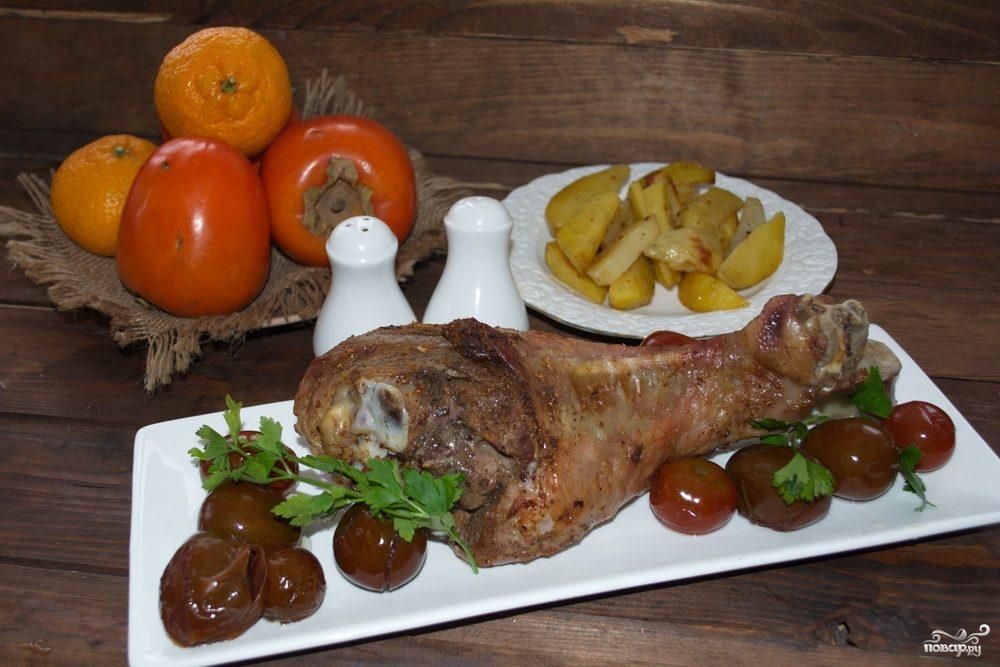 грибы картошка и мясо в фольге в духовке рецепт