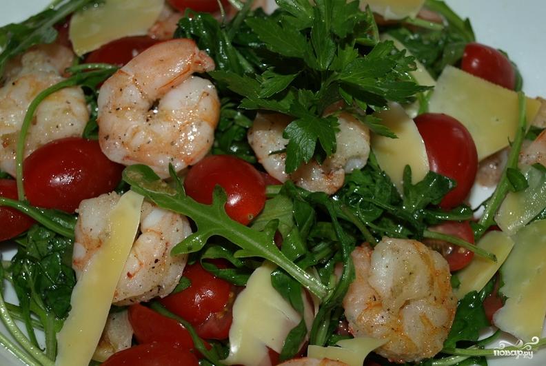салат помидоры креветки рецепт с фото