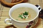 Суп-пюре грибной с сыром