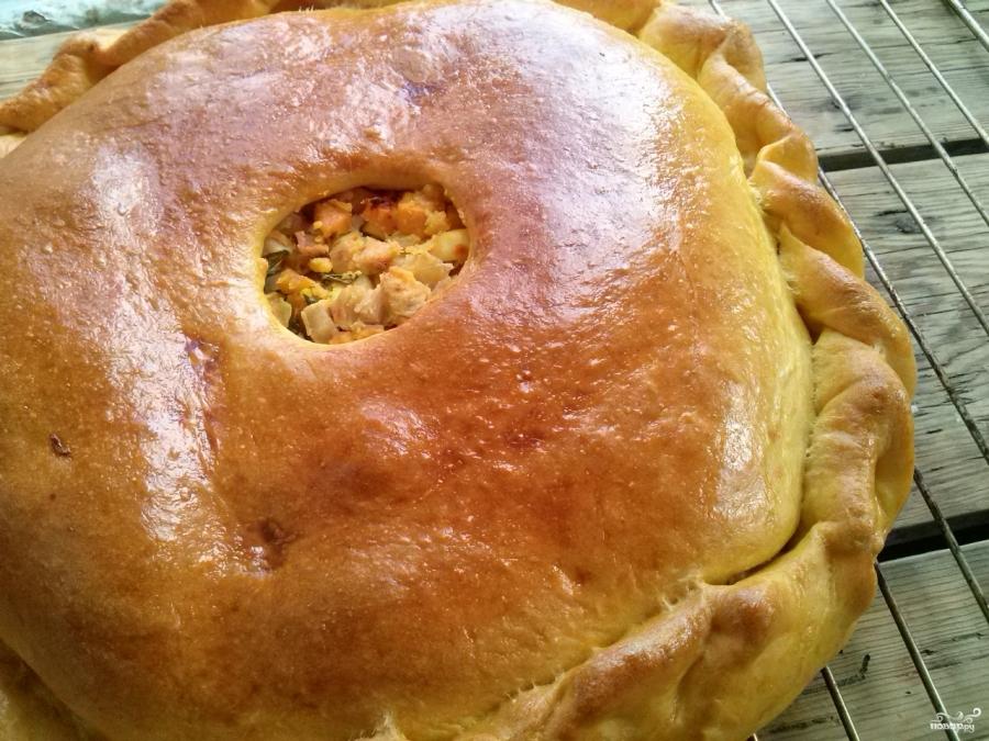 Тыквенный пирог с курицей - фото шаг 16