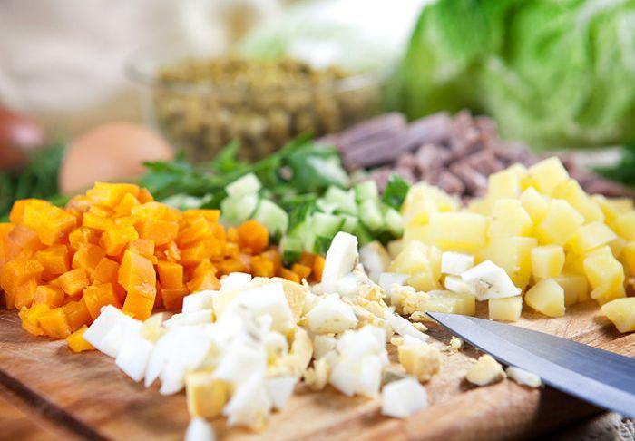 оливье слоями рецепт