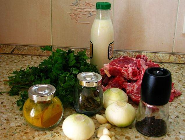 Рецепт Баранина в кефире