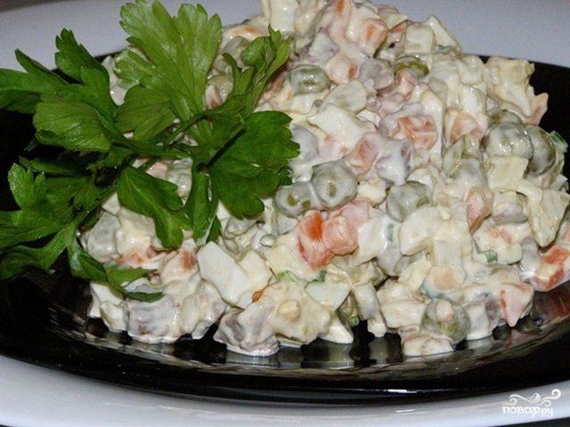 Рецепт Постный салат Оливье