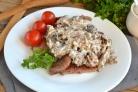Мясо под грибным соусом