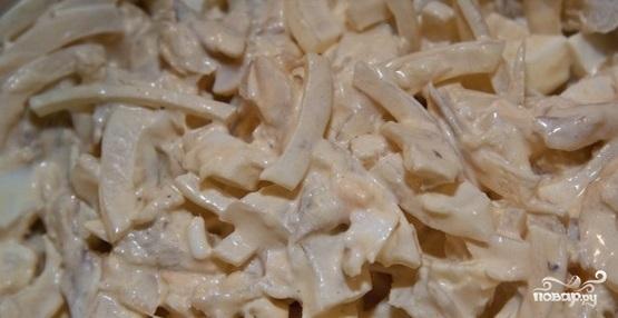 Салат с копченой треской