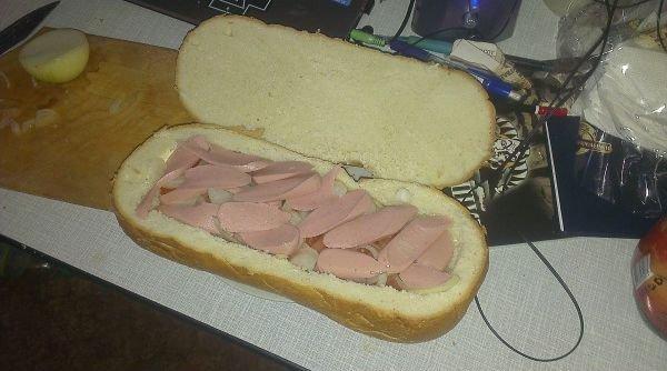 Мужской бутерброд - фото шаг 6