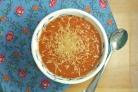 Суп из томатного сока с сыром