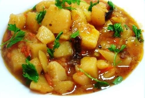 Рецепт Картофель с овощами