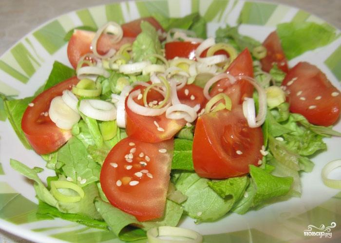 Салат из спаржи с грибами - фото шаг 4