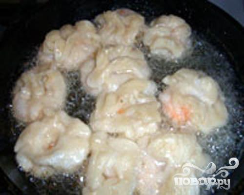 Хрустящие мешочки с креветками - фото шаг 5