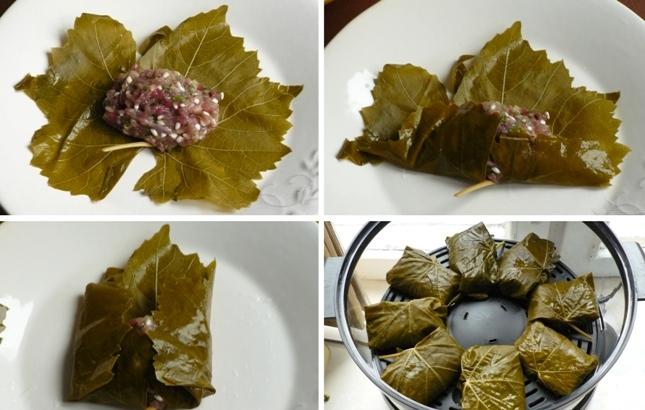 Долма в виноградных листьях в мультиварке - фото шаг 3