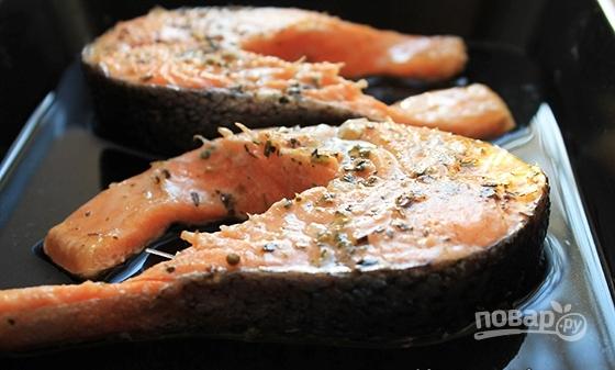 Стейк рыбы в духовке рецепт пошагово