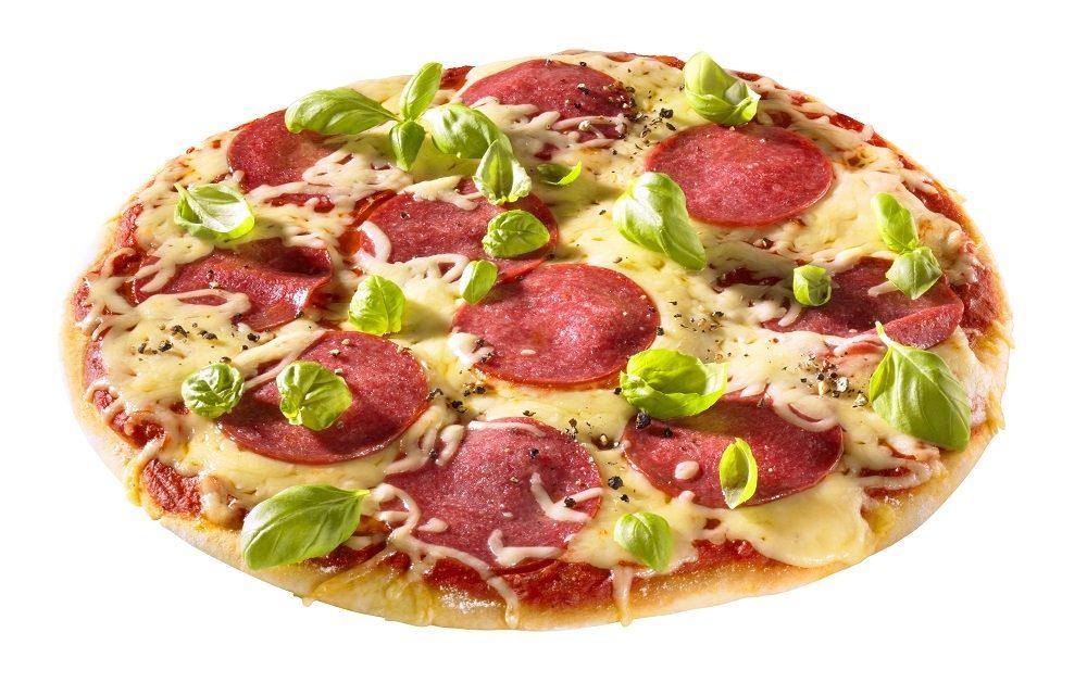 Рецепт Пицца с сырокопченой колбасой