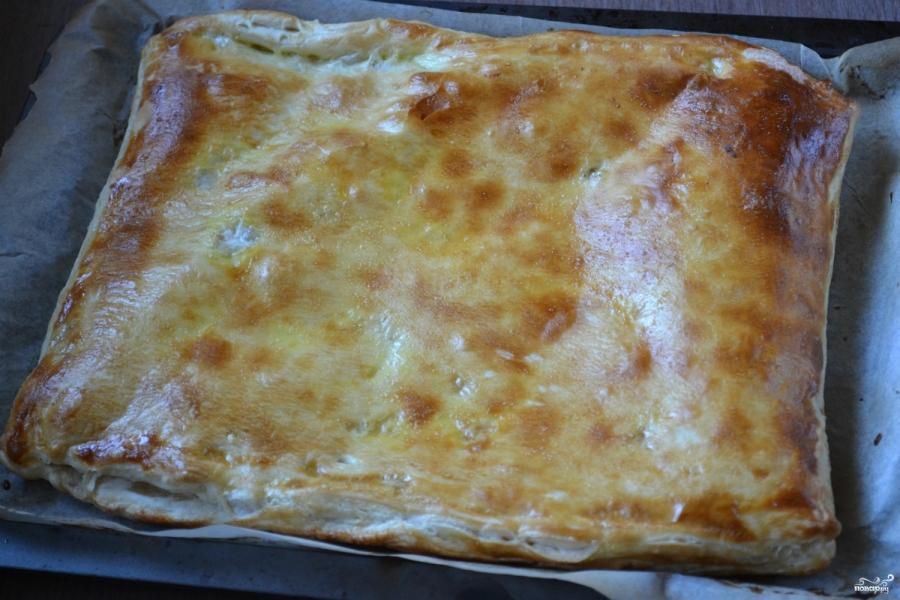 Пирог из слоеного теста с яблоками - фото шаг 7