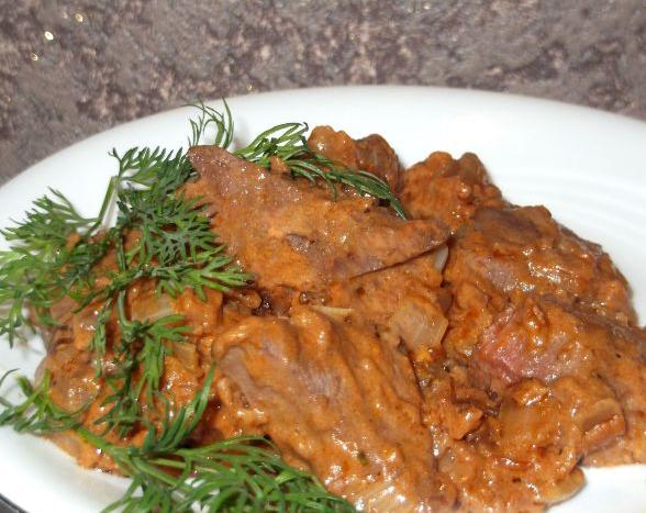рецепты из свиной печени с фото в духовке