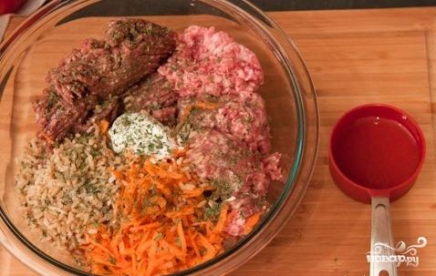 Перец, фаршированный мясом и рисом - фото шаг 2