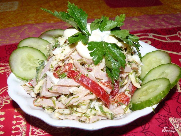 Рецепт Берлинский салат с ветчиной