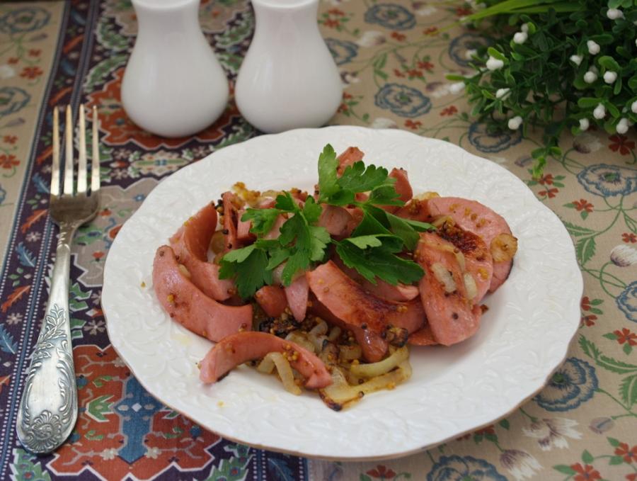 Жареные сосиски - фото шаг 5
