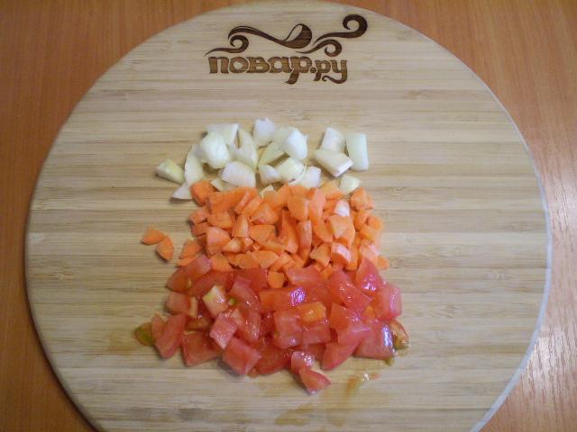 Овощной плов с грибами - фото шаг 3