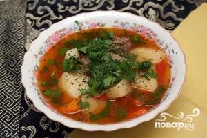 Шурпа из баранины по-узбекски