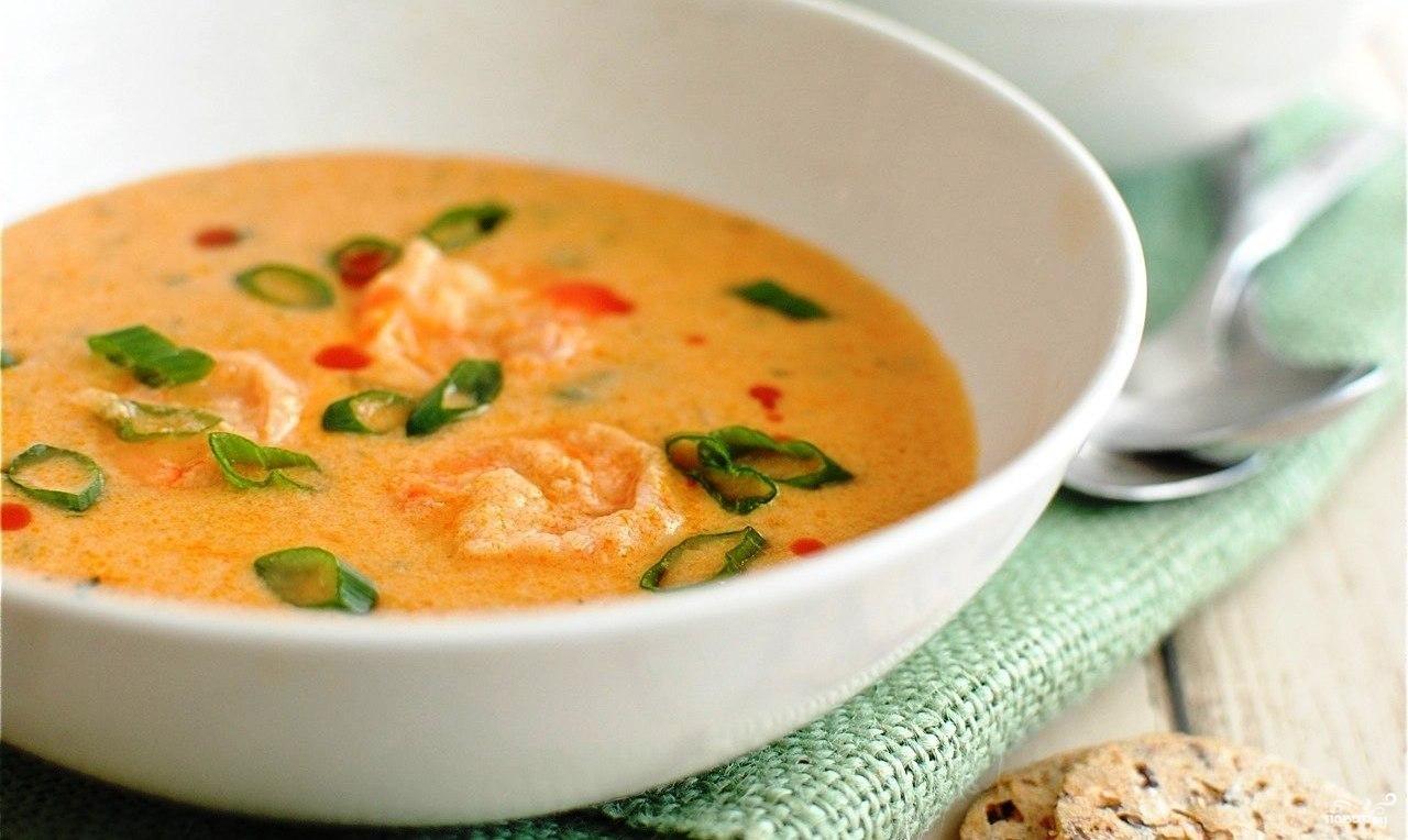 сырный суп с креветками пошаговый рецепт