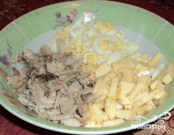 Салат с виноградом и курицей - фото шаг 3