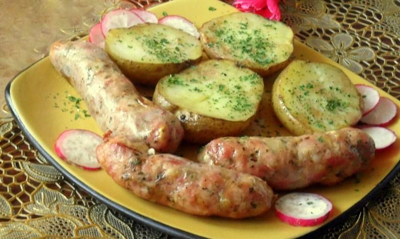 Домашние колбаски в духовке - фото шаг 4