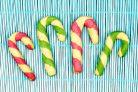 Новогоднее печенье Тросточки