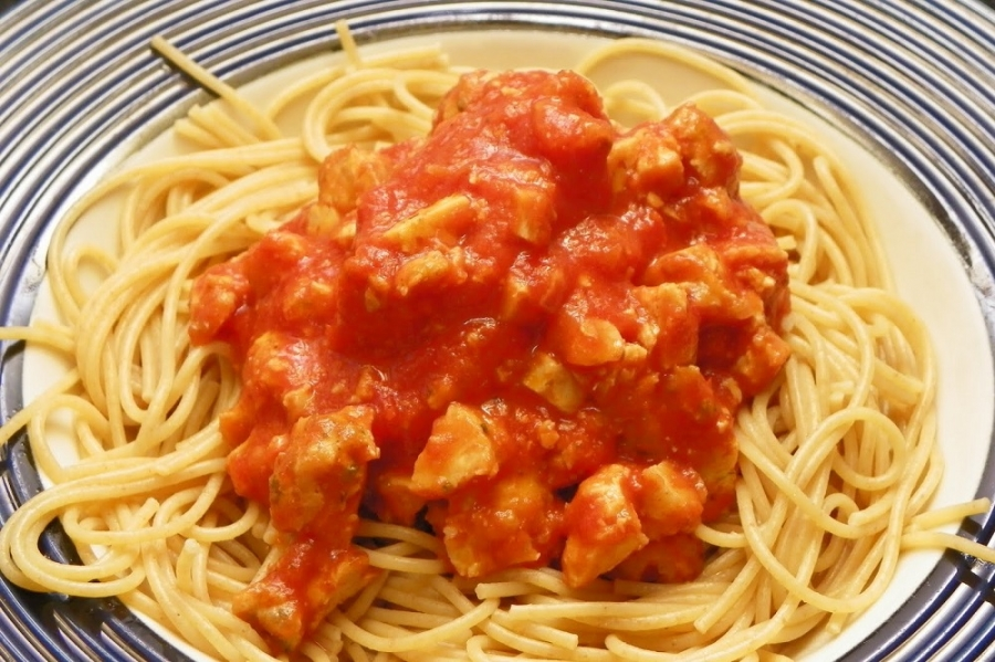 Спагетти с курицей и перчиком чили - фото шаг 4