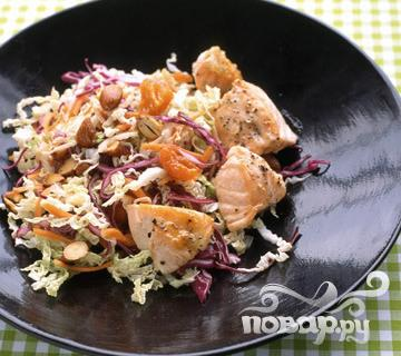 Рецепт Азиатский салат с лососем