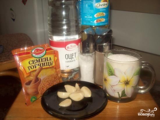 Рецепт Маринованные огурцы с горчицей