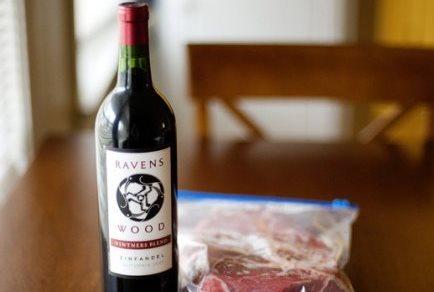 Рецепт Говядина, маринованная в вине