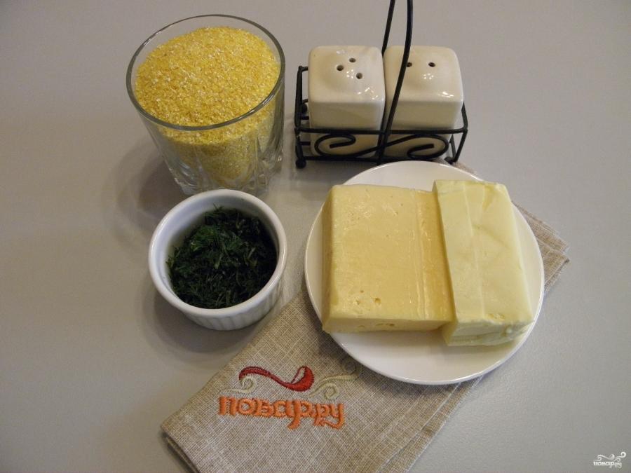 Кукурузная каша с сыром - фото шаг 1