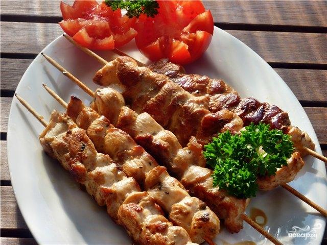 Мясо маринованное в духовке