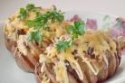 Картошка-гармошка с салом