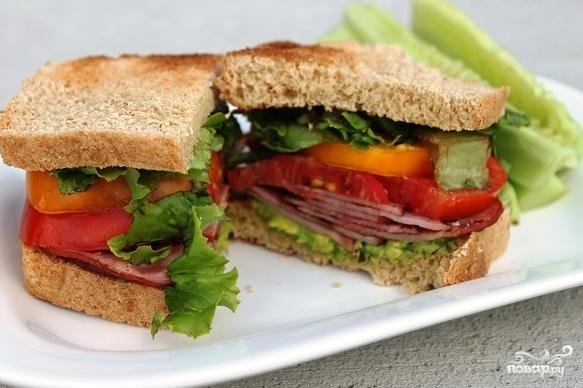 Рецепт Бутерброд с беконом