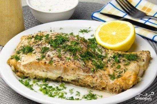 Рецепт Красная рыба в микроволновке