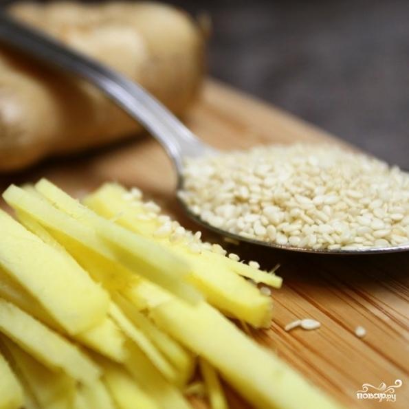 Рецепт Лосось с имбирем
