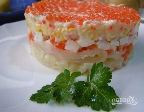 Рецепт морского салата с креветками и кальмарами