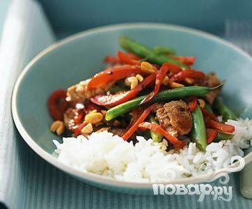Рецепт Жаркое из свинины и зеленой фасоли