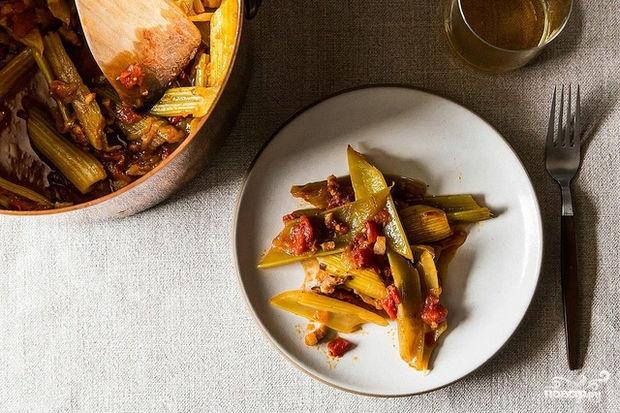 Рецепт Тушеный сельдерей с овощами