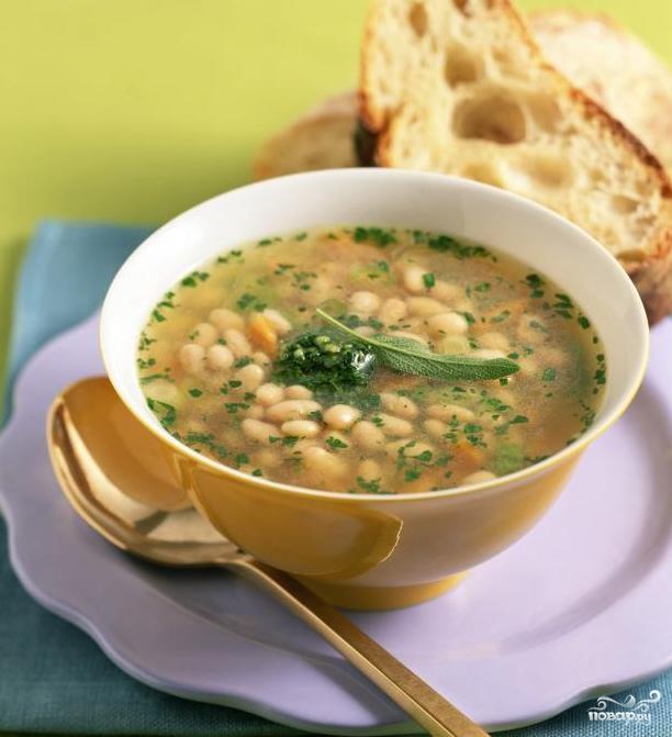 Фасолевый суп постный - фото шаг 8