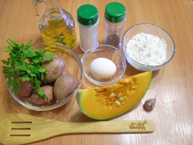 Рецепт Оладьи из тыквы с картофелем