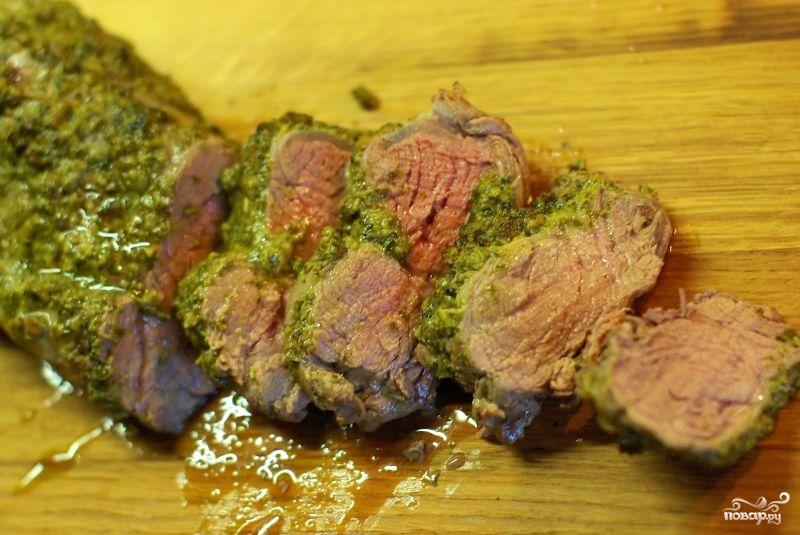 Свиная вырезка в духовке - фото шаг 9