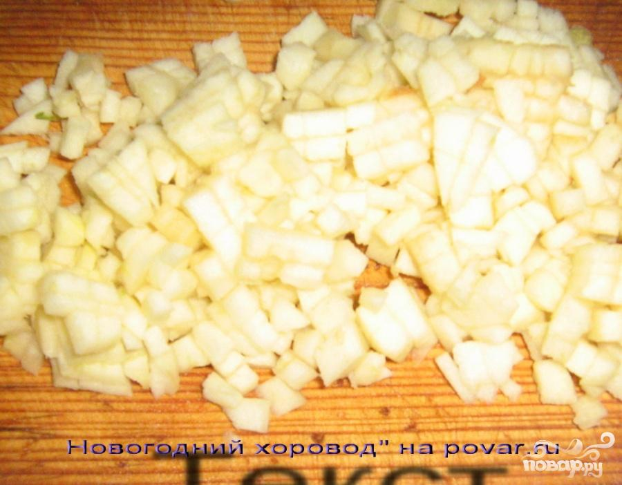 Салат с селедкой и яблоками - фото шаг 5